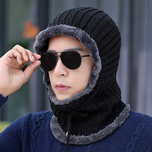 冬季护yv颈连体帽子lz寒冬帽保暖套头帽男士骑车防风帽包头帽
