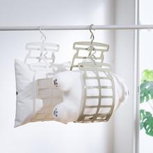 晒枕头yv器挂钩晾晒ne窗外阳台折叠固定晒娃娃晒枕夹