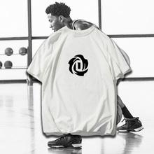 风城玫yx森林狼ROsw斯篮球运动纯棉短袖T恤宽松透气半袖t恤衫男