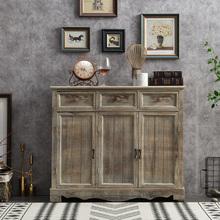 美式乡yx实木玄关柜sw容量门厅柜复古(小)柜子储物做旧柜子中式
