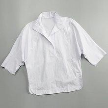 珍珠纽扣yz1圆弧衣摆ak 宽松造型衬衫 白色衬衫【女式】