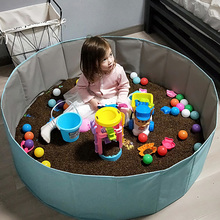 宝宝决yz子玩具沙池ak滩玩具池组宝宝玩沙子沙漏家用室内围栏