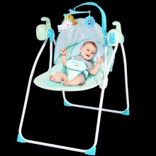 婴儿电yz摇摇椅宝宝ke椅哄娃神器哄睡新生儿安抚椅自动摇摇床