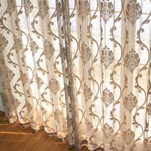 欧式客yz卧室丝绒窗dq加厚遮光阳台飘窗豪华落地窗纱成品定制