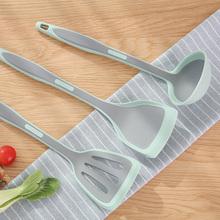 日本厨yz硅胶不粘锅zi勺炒菜铲子套装家用耐高温硅胶铲勺
