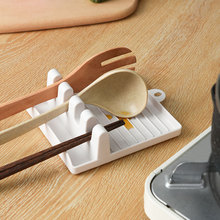 日本厨z6置物架汤勺6q台面收纳架锅铲架子家用塑料多功能支架