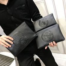 手包男z7020新式7j软皮社会信封包手拿包印花商务手拎夹包潮流