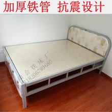 铁艺床双的1.za米1.2米ug款铁架床超牢固抗震简约现代经济型卧