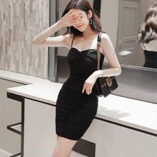夏季2za21新式女ng气质连衣裙时尚夜店礼服性感抹胸包臀吊带裙