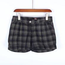 【多】za场撤柜品牌an装新式春秋条纹格子短裤休闲裤1Q017