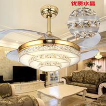 智能餐zd风扇灯简约pz用客厅卧室遥控电风扇吊扇灯