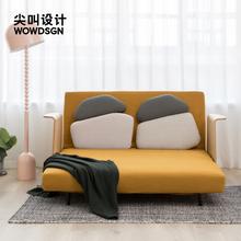 尖叫设ze 鹅卵石沙ky厅多功能两用沙发折叠床(小)户型伸缩床