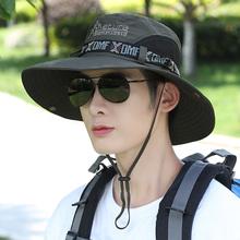 帽子男户外钓ze渔夫帽男士ro阳帽夏天防晒帽青年可折遮脸太阳