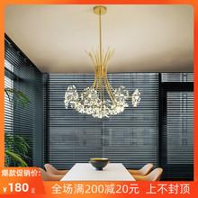 北欧灯zf后现代简约wl室餐厅水晶创意个性网红客厅蒲公英吊灯