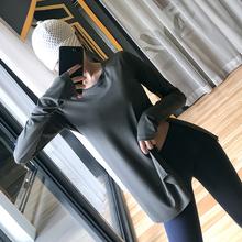 健身女zf宽松跑步罩hw运动t恤显瘦网红瑜伽服长袖大码上衣新