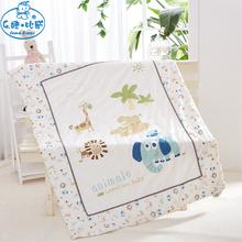 儿童纱布zg凉被新生儿hx被夏季婴儿空调被宝宝纯棉被子可水洗