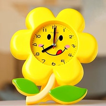 简约时zg电子花朵个hx床头卧室可爱宝宝卡通创意学生闹钟包邮