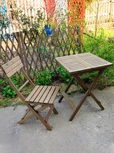 户外可zg叠桌椅组合wg院楼台便携套装折叠椅户外阳台简易餐桌