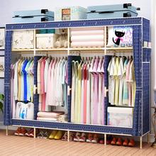 收纳架zg木简约现代wq衣橱双的出租房卧室经济型柜子