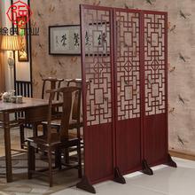 屏风隔zg时尚客厅玄wq式复古卧室移动双面折屏简约现代实木