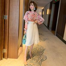 MIUzgO设计感斗wq甜美印花(小)立领时尚衬衫女装2020春季新式