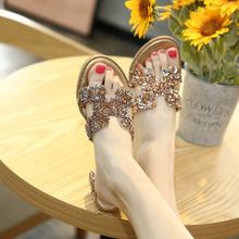 新式百zg高跟凉拖鞋wq020时尚外穿潮式粗跟女士网红懒的h拖鞋