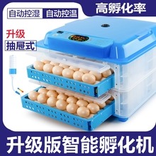 自动型zh蛋机孵蛋器hu浮化机付化器孚伏(小)鸡机器孵化箱