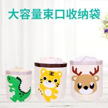 大号收zh盒布艺棉麻hu玩具可爱桶置物学生卡通衣服有盖整理箱