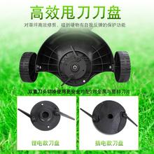 手推式zh充电式家用le功能草坪锂电池除草机剪草。