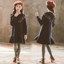 女童秋zh连衣裙12le岁10中大童女装冬装韩款洋气13冬季宝宝裙子