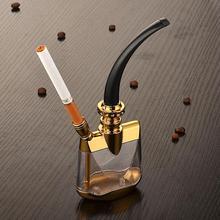 高档香zh全套水烟筒ge明烟锅水烟袋水烟壶过滤烟嘴男士