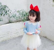 女童女zh宝秋装新式as织网纱白雪公主连衣裙万圣节蓬蓬公主裙