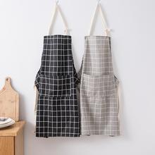 夏季韩zh简约时尚女ng围腰罩衣成的男厨房做饭工作服
