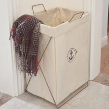 棉麻脏zh篮折叠收纳xh用大号防水洗衣篮脏衣服玩具储物收纳筐