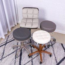 美容凳zi升降旋转理tm工凳发廊理发师专用美容院椅子圆凳子