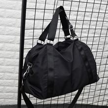 简约旅zi包手提旅行kq量防水可折叠行李包男旅行袋休闲健身包