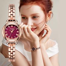 英伦风zj带女表(小)巧ai表时尚潮流(小)表盘石英女装气质腕表品牌