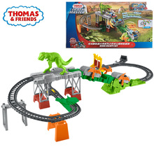 托马斯zj火车轨道大bj恐龙公园探险套装电动火车玩具FJL40