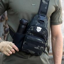 胸包男士单肩斜挎包新款户外路亚潮zj13背包钢hg包男弹弓包