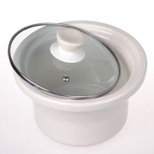 通用内zj炖锅玻璃盖lw白瓷0.7L1.5L2.5L3.5L45升锅胆紫砂陶瓷