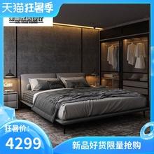 北欧皮布艺床1.8米床1米zj10意式极ao主卧大气婚床双的床