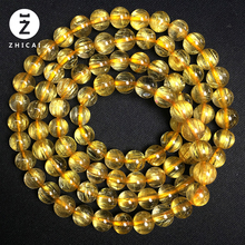 纯天然zl发晶手链三jc 招财多圈黄发晶手串 多层钛晶108佛珠