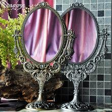 王后装zm复古欧式大cc子双面高清公主可爱台式旋转化妆梳妆镜