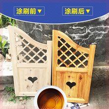 棕色木zn阳台通用欧ll漆清漆5L神器桌面。家具油漆木器漆环保