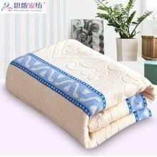 纯棉双zn全棉老式怀zd毯子办公室睡毯宿舍学生单的毛毯