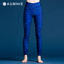 AUMzpIE澳弥尼kp长裤女式新式修身塑形运动健身印花瑜伽服