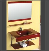 钢化玻璃盆洗手盆zs5脸盆不锈lo瓷盆浴室柜组合卫生间洗面盆
