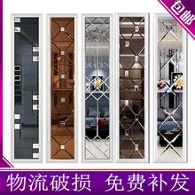 艺术玻璃拼镜背景墙边框造zt9装饰框茶sl厅电视餐厅镜面定制