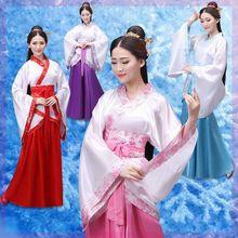 古装仙zt清新演出古sl服装新式改良水袖戏曲古代红色唐装古筝