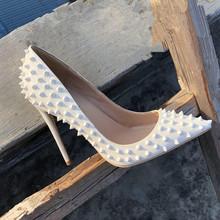 202zu新式女鞋名ai高跟鞋女细跟10CM尖头性感浅口单鞋白色婚鞋